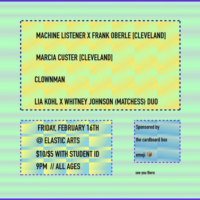 ClownMan + M. Custer + Machine Listener + Lia Kohl / Whitney Johnson